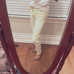 **2/$25** AE Yellow and white tie dye jeans